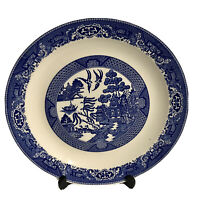 """Blue Willow Ware by Royal China 12"""" Round Serving Platter Plate No Chips"""