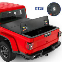 5FT Tri-Fold Hard Truck Tonneau Cover(Waterproof) For 2020 Jeep Gladiator On Top