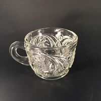 Vintage Punch Bowl Cup Glass Replacement Ornate Pinwheel Pattern 10 Available