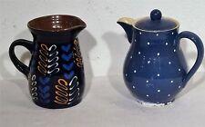 2 Bauernkeramik Teile Keramik Milch Kanne Kännchen Schokoladenkanne und Krug