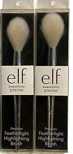 E.L.F. Beautifully Precise Precision Feather Light Highlighting Brush 2PK No.104