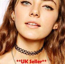 Henna Necklace elastic chocker 90s Uk Vintage Retro hippy Stretch Tattoo choker