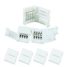 10 x LED RGB strip conector rápido conector los conectores o enchufes conector set 4 pin