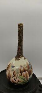 ANTIQUE JAPANESE satsuma BOTTLE VASE, MEIJI PERIOD (1868-1913),