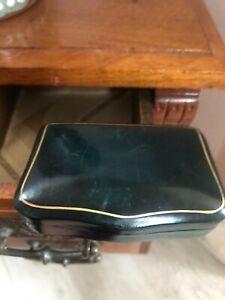 Quality Antique Italian Calf Leather Florentine Hand Tooled Jewellery Box / Case