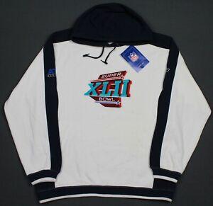 New Super Bowl XLII Reebok NFL Hoodie Sweatshirt Large New York Giants