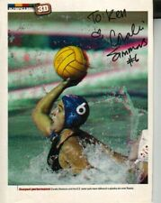 Coralie Simmons Autographed Sports Illustrated Photo Page Olympic Polo TO KEN