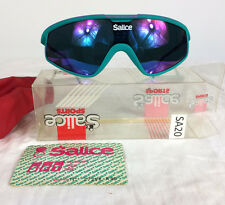 NOS Vtg Salice 80's Sport Wrap Cycling Ski Volleyball Surf Snowboard Sunglasses