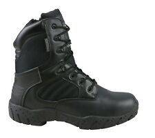 COMBAT MILITARY TACTICAL  BOOTS HALF LEATHER SECURITY SIA ARMY CADET BLACK