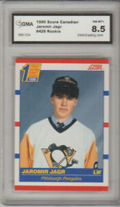 1990-91 Jaromir Jagr Rookie Card Score Canada gma Graded 8.5