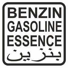 1 Benzin Aufkleber 10cm Tanken Deckel 4x4 Us Army Benzin Gasoil Wohnmobiele Öl F