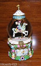 "Disney Mickey & Minnie on the Carousel ""The Carousel Waltz"" Musical SnowGlobe"