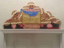 HP  Gingerbread Family Door Topper, Gingerbread Decor, Door Crown, Sugar Cookies