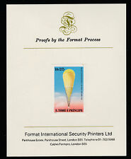St Thomas (346) 1980 Balloons 25Db imperf on Format International Proof Card