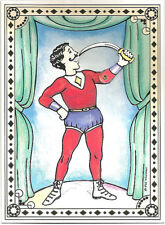 Victorian Mechanical Greeting Card SWORD SWALLOWER Circus Act MINT Shackman