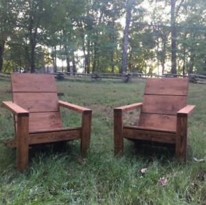 Modern Adirondack Chair handmade