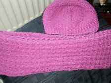 Hand Knitted Chunky Hat and Cowl Set