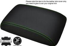Se adapta a VW Scirocco Costura Verde 2008+ Cuero Apoyabrazos Cubierta De Cuero