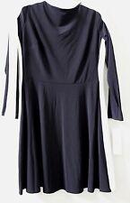 LAUREN Ralph Lauren Long Sleeves Black White Color Block Sheath Dress 14P $139