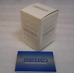 Genuine SEIKO watch box + Book & certificate  Shop display watch box  window NEW