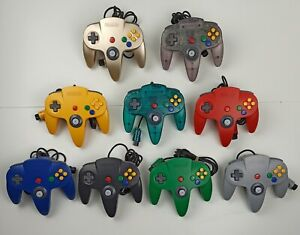 Nintendo 64 controller - N64 - clear purple - clear blue - 9 units - yellow