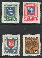 Estonia Sc B28-31 1936 Coats of Arms charity stamp set mint