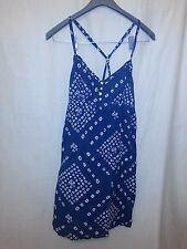 Aeropostale Women's Blue & White Spaghetti Strap Dress Size XL Made in Nepal EUC