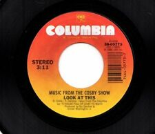 MUSIC FROM THE COSBY SHOW LOOK AT THIS/LOVE IS IN IT'S PROPER PLACE 45RPM VINYL