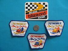 VINTAGE SKI-DOO BLIZZARD RACER JETMOBILE SNOWMOBILE STICKER DECAL PATCH CREST