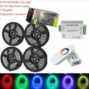 5-20m RGB RGBW 5050 SMD Waterproof LED Strip lamp light String RF Remoter power