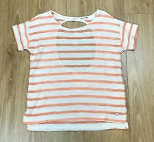 Womens Peach Striped Roxy Sleeveless Top Size 14/16