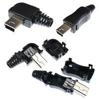 DIY Solderable USB Type B Mini Connectors - 5 Pin Angled & Straight
