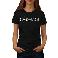 Wellcoda Buddies or Enemies Womens T-shirt, Series Casual Design Printed Tee