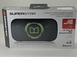 MONSTER Super Star Portable Wireless Speaker & Speakerphone  -  NEW IN BOX
