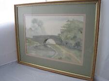 Pat Yallup Canal Bridge Original Watercolour Painting