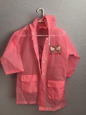Sanrio Hello Kitty Pink Raincoat Rain jacket Tokyo Japan Kids Size Large Girls