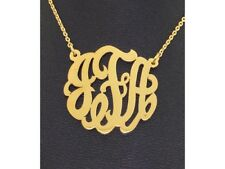Personalized 25MM Nameplate Pendant Necklace Sterling Silver or Yellow Gold Plat