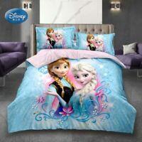 3D Printed Bedding Set Frozen Elsa Anna Rapunzel Princess Girls Single Bedlinen