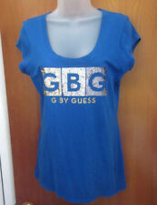 GUESS JEANS juniors XL tee logo Marciano throwback sexy T shirt w/ glitter GBG