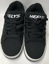 HEELYS US Youth Size 3 Skate Shoes Black & White NO Wheels NO WHEELS