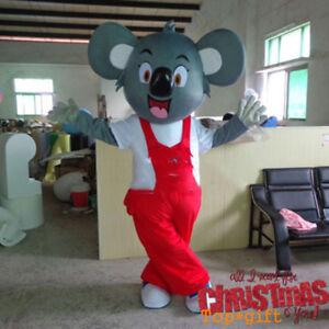 Koala Bear Mascot Costume Animal Cosplay Cartoon Fancy Dress Unisex Outfits
