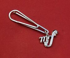Mezzo Forte, mf, or High Volume Music Silver Pin Badge, New