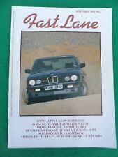 Fast Lane - September 1984 - BMW Alpina 3.5 B9 - Countach
