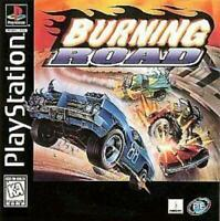 Burning Road Playstation 1 Game PS1 Used Complete