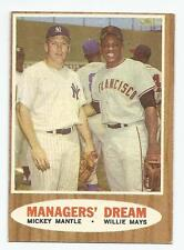 1962 Topps #18 Managers' Dream Mickey Mantle / Willie Mays Ex+ NY Yankees Giants