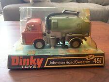 Vintage Dinky Toys Johnston Road Sweeper Die Cast Metal 451 Nib