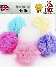 3 pcs lot Bath Shower Body Puff Sponge Mesh Ball Random Color Scrunchie Wash Uk