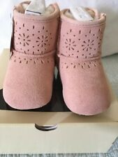UGG Jesse Bow II Sunshine Pink Baby Bootie Size 2/3 Super Cute New In Box