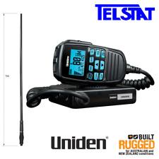 UNIDEN UH8060S UHF CB 80CH RADIO & Uniden AT890BK 1.0m Black Heavy Duty Antenna