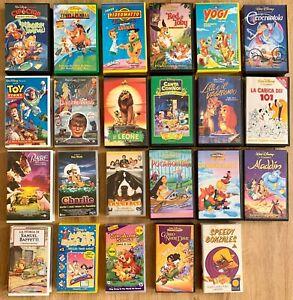 VHS Cartoni Animati Videocassette Disney e Altro / Lotto SCEGLI UNO bambini Film